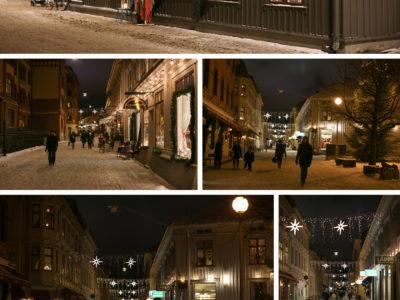 Haga Nygata en vinterkväll