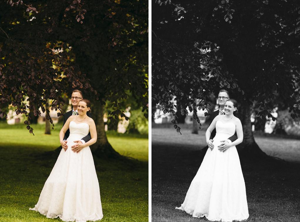 Hällekis säteri bröllop porträtt