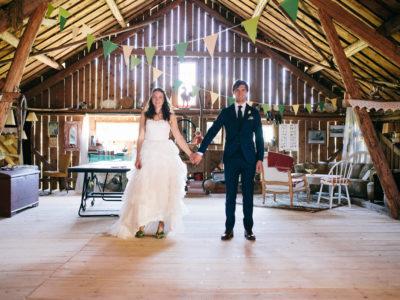 Rustikt sommarbröllop