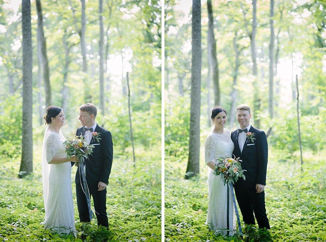 bröllop porträtt kinnekulle